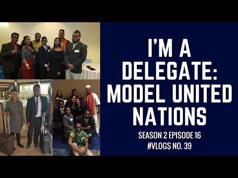 I'M A DELEGATE: MODEL UNITED NATIONS #VLOGS NO. 39