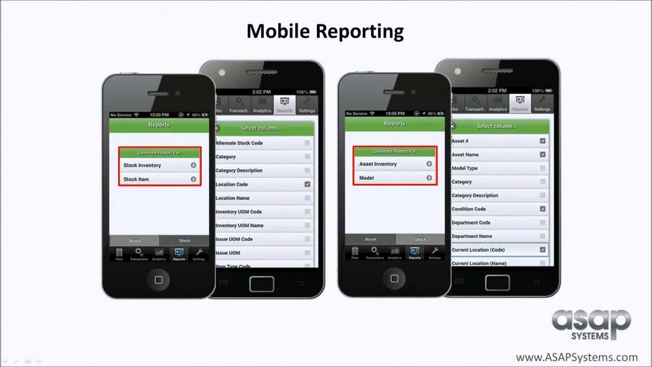 Inventory System Mobile App Reporting Inventory And Asset