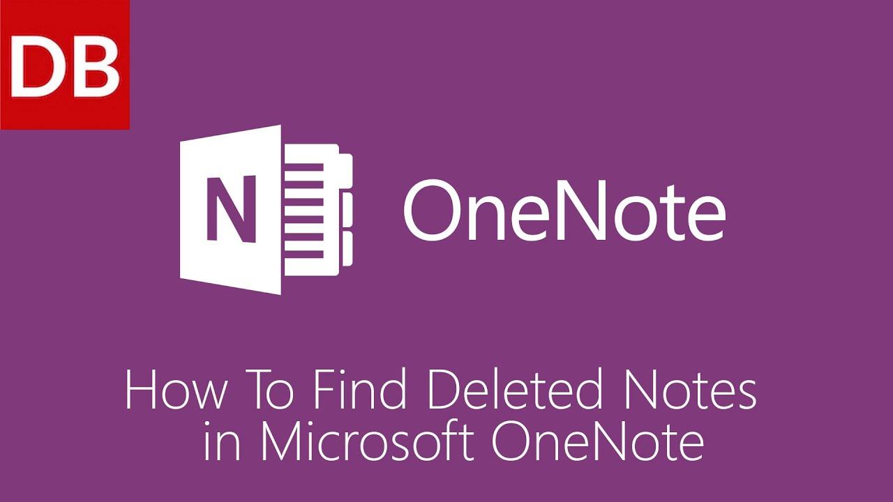 OneNote For Mac | How to Find Deleted Notes 1 Minute Tutorial