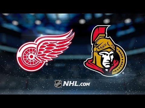 Detroit Red Wings Vs. Ottawa Senators | NHL Game Recap | October 7, 2017 | HD