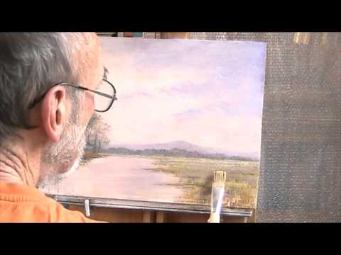 Floods in the Somerset levels  Acrylic  Pt  2