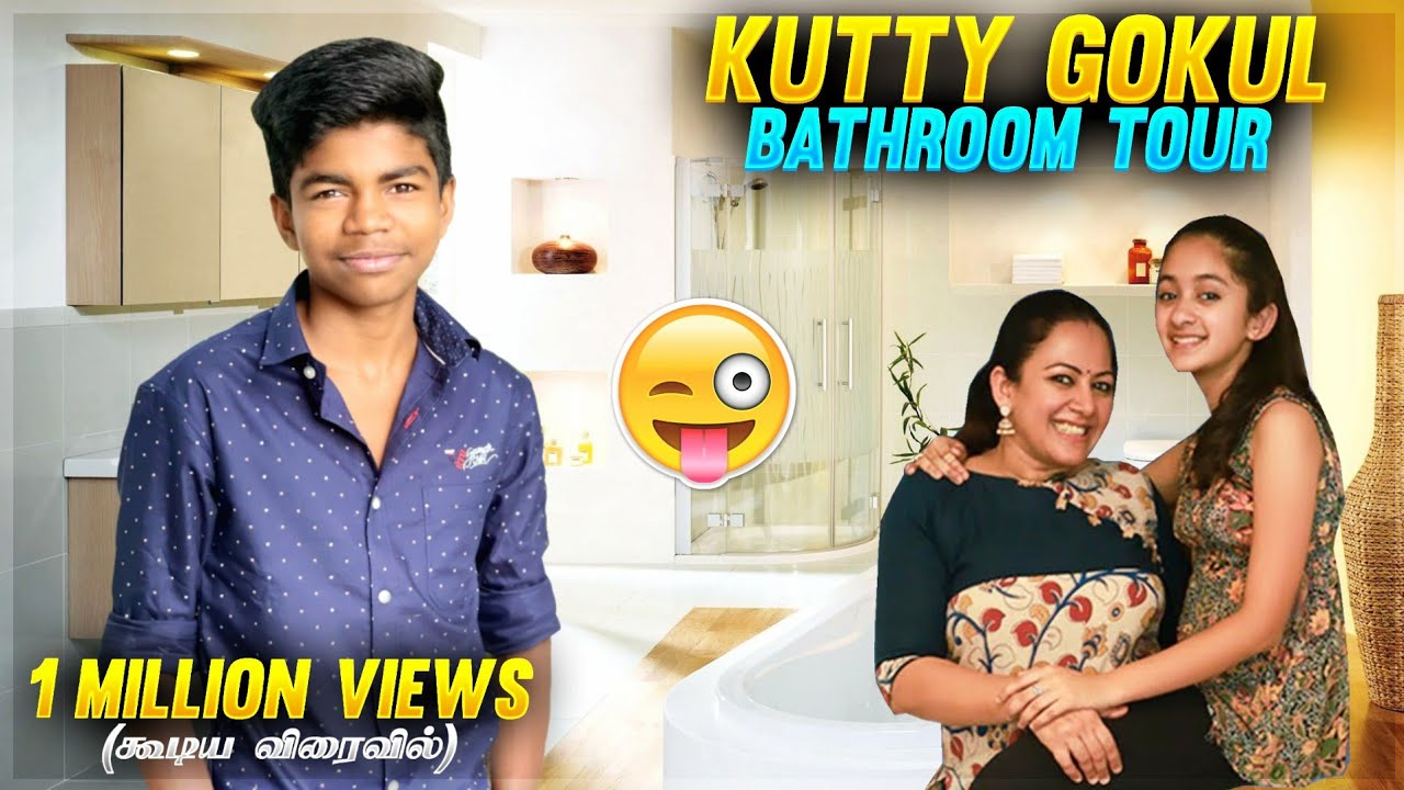 Wow!!😱 1st Time In Tamil Nadu! Kutty Gokul 🤮Bathroom Tour Video | Most Expensive Bathroom In India