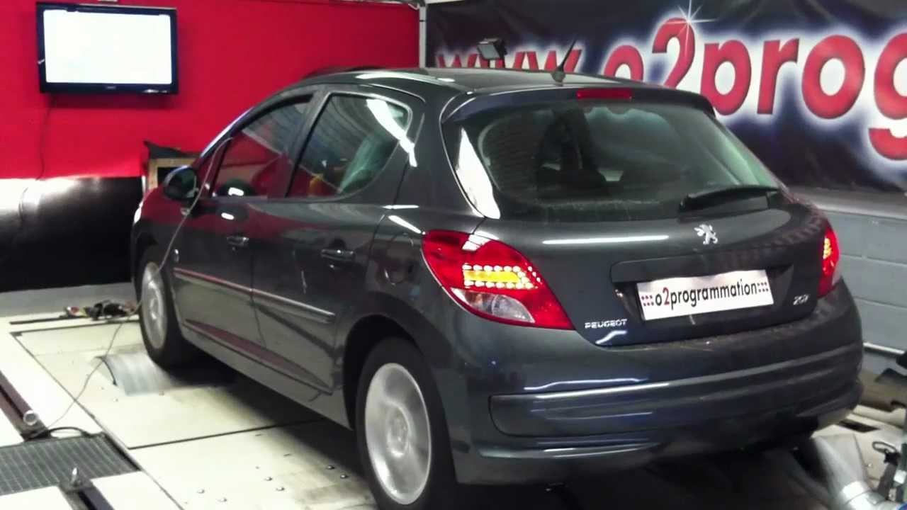 test dyno reprogrammation moteur peugeot 207 hdi 2012 1 6 hdi 92 117ch o2programmation youtube. Black Bedroom Furniture Sets. Home Design Ideas