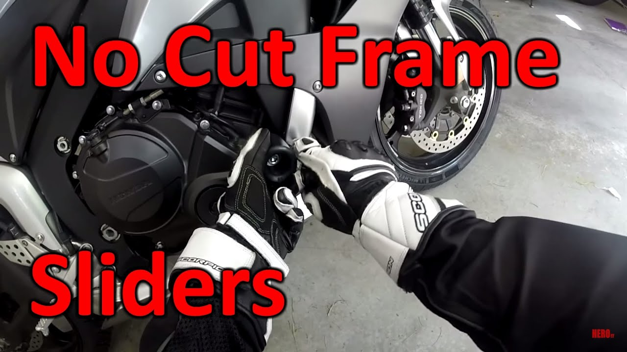 Shogun No cut frame sliders CBR 600rr - YouTube