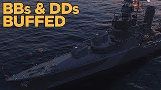 Battleship and Destroyer Buffs - World of Warships