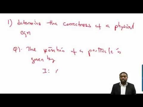 Dimensional Analysis Simplified