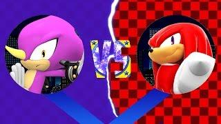 Sonic Epic Fight: Espio VS Knuckles (pivot sprite animation)