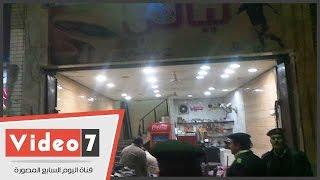 مرافق العجوزة تشن حملة على المقاهى بسور نادى الترسانة