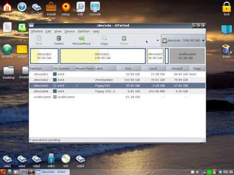 Puppy Linux - Partea 2 (cum se pun scurtaturi pe desktop)