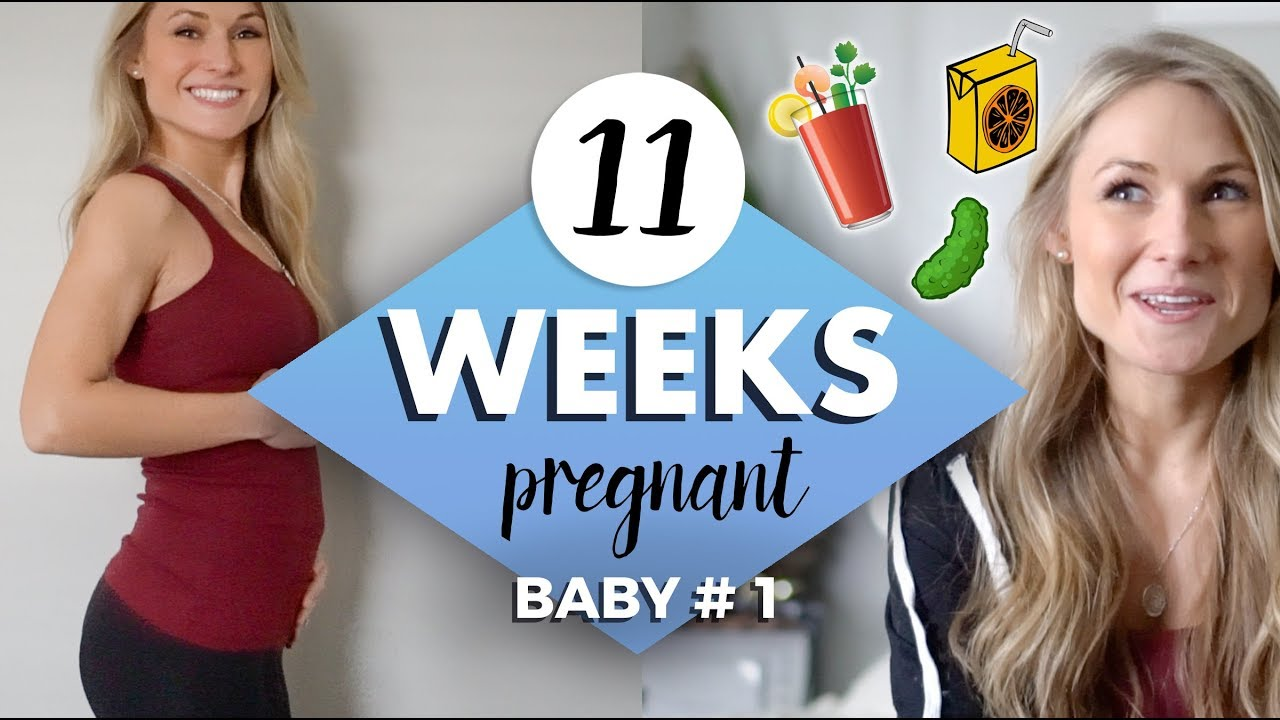 11 WEEKS PREGNANT // So Many Cravings!!! and a Bump Update!