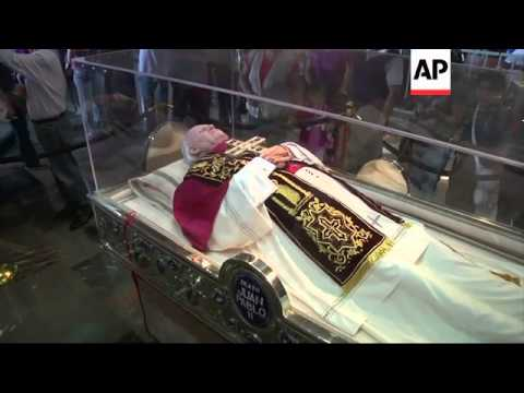 Exhibition of Pope John Paul II's personal belongings in Guadalupe church