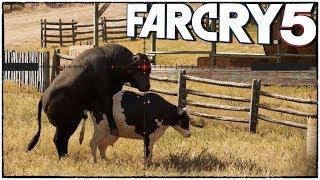 Самое ИДИОТСКОЕ задание в Far Cry 5. Нужно убить быка, пока он...  (Far Cry 5 кооператив #9)