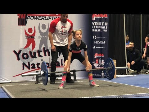 11 year old Powerlifter breaks USAPL Deadlift American