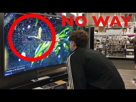 KID GETS MAD!! ALMOST SHATTERS TV IN BEST BUY!!! MUST WATCH!!