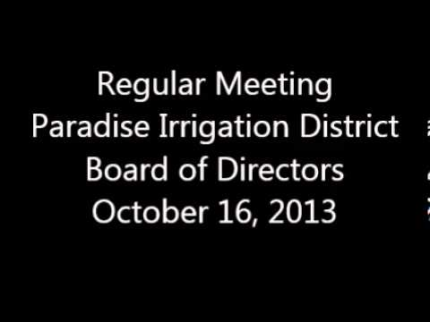 October 16, 2013, Regular Meeting