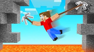 Minecraft BUT We Have GRAPPLE HOOKS!