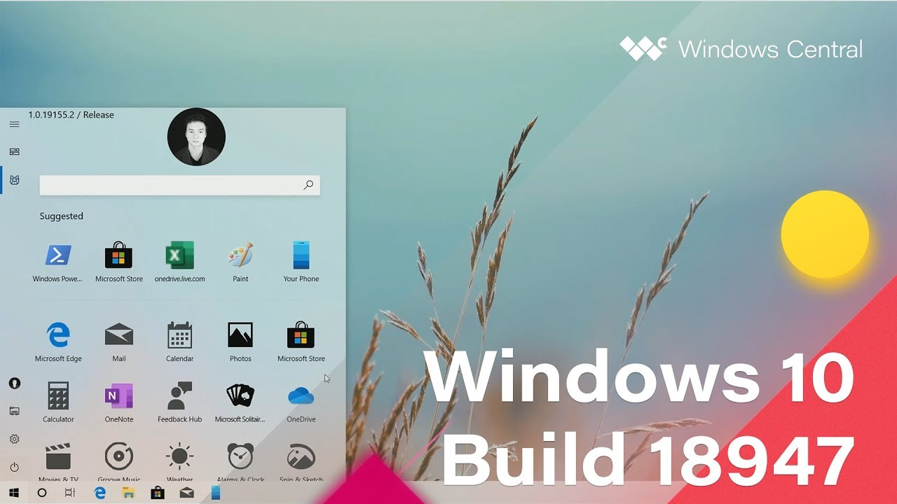 Windows 10 Build 18947 - New Start Menu, Emoji Picker