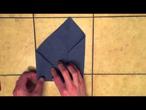 briefumschlag servietten falten anleitung youtube. Black Bedroom Furniture Sets. Home Design Ideas
