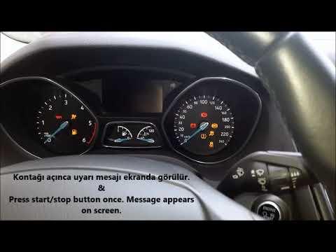 Ford Focus Yag Degisim Uyari Mesaji Silme Islemi How To Reset