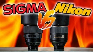 NIKON 105mm f1.4 vs SIGMA 105mm f1.4 ART | SHOCKING RESULTS!