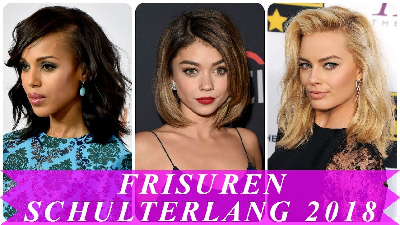 Aktuelle Frisuren Für Schulterlanges Haar 2018 Damen Youtube