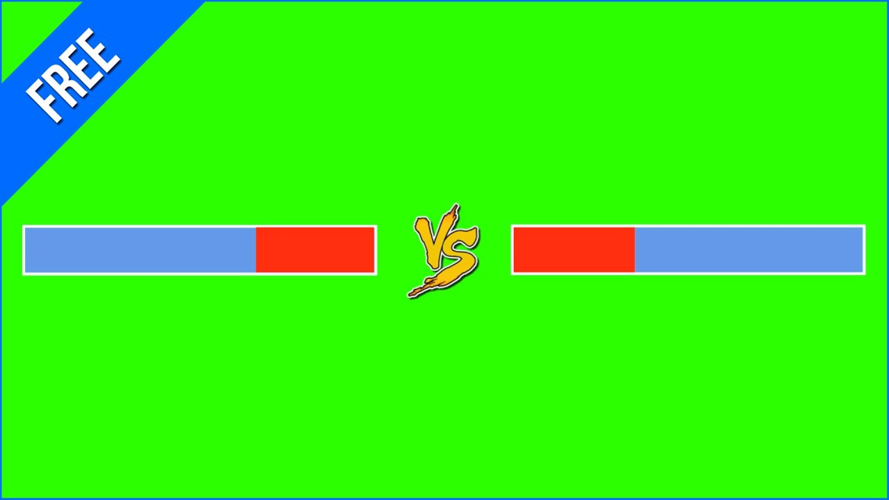 Barra De Versus 1 Versus Bar 1 Green Screen Chroma Key