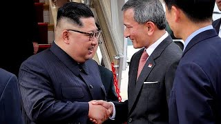 Kim Jong Un arrives in Singapore ahead of meeting with Trump
