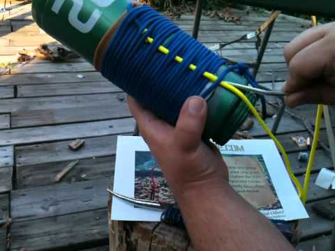 Paracord how to diy pouch koozie stormdrane part 2 youtube for Paracord koozie how to make