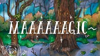 Speedpaint watercolor magical forest/ спидпейнт акварель волшебный лес