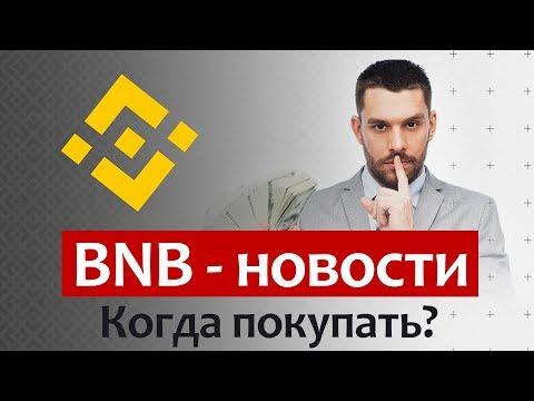 BNB - Новости. Когда покупать Binance Coin. 50$ к концу года!