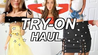 Affordable Back to School Try-on Haul | Hannah Meloche