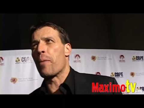 TONY ROBBINS Interview at Larry King's 75th Birthday Party Celebration