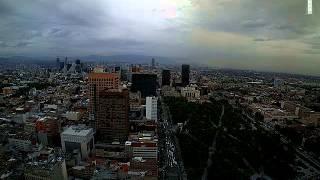 Sismo Ciudad de México 8 de mayo 2014 Vista Torre Latino Poniente (con audio)