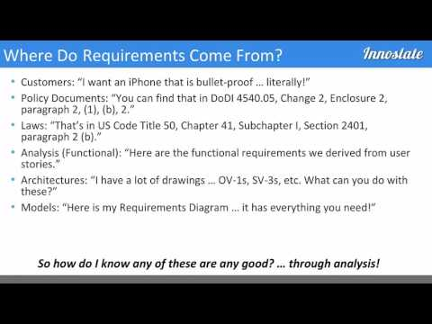 Achieving Success Through Requirements Analysis