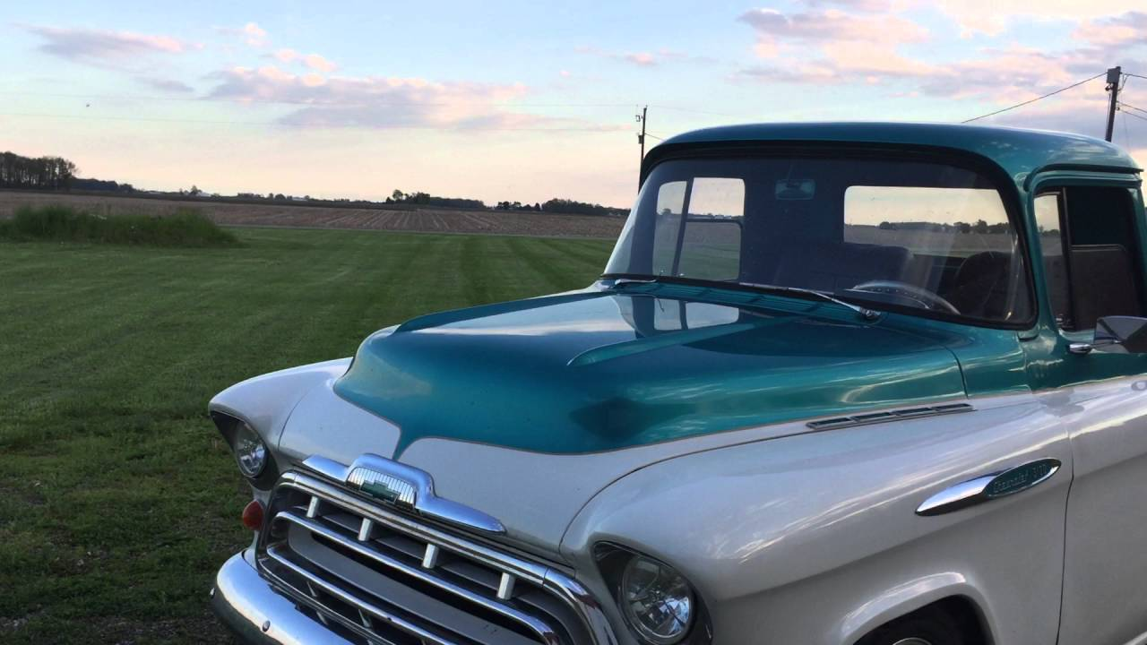 1957 Chevy 3100 Short Bed Pick Up Truck For Sale on Ebay - YouTube