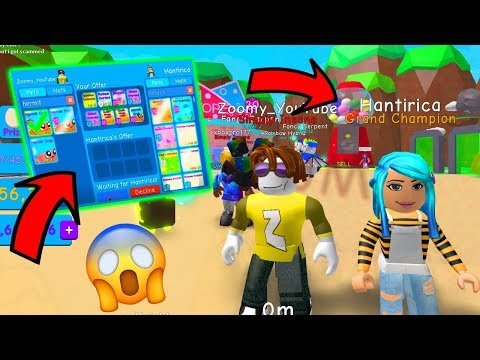 I GAVE PHMittens ALMOST ALL MY BEST PETS! - BUBBLE GUM SIMULATOR ROBLOX
