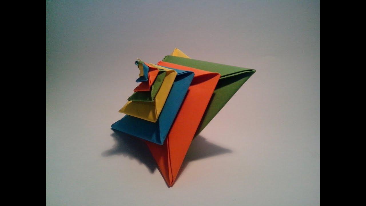 Como hacer una espiral de papel origami modular 3d youtube - Papiroflexia paso a paso ...