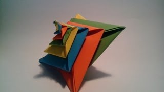 como hacer una espiral de papel origami modular 3d