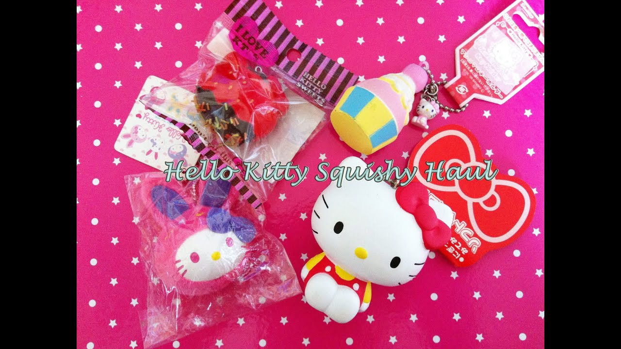 Squishy Collection Hello Kitty : Rare Hello Kitty Squishy - YouTube