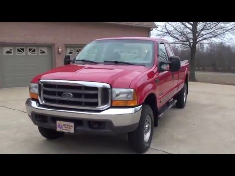 HD VIDEO 1999 FORD F250 XLT 7 3L POWERSTROKE DIESEL 4X4 USED FOR