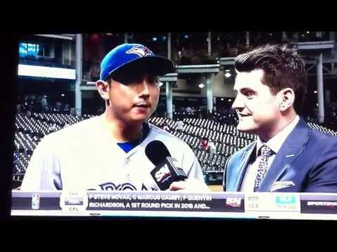 Munenori Kawasaki Post Game Interview July 10, 2013  (Blue Jays vs Indians)