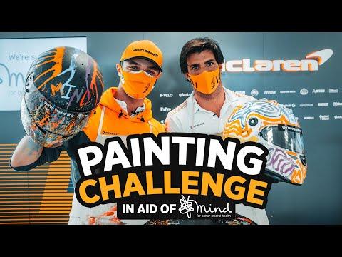 Carlos Sainz and Lando Norris paint for Mind