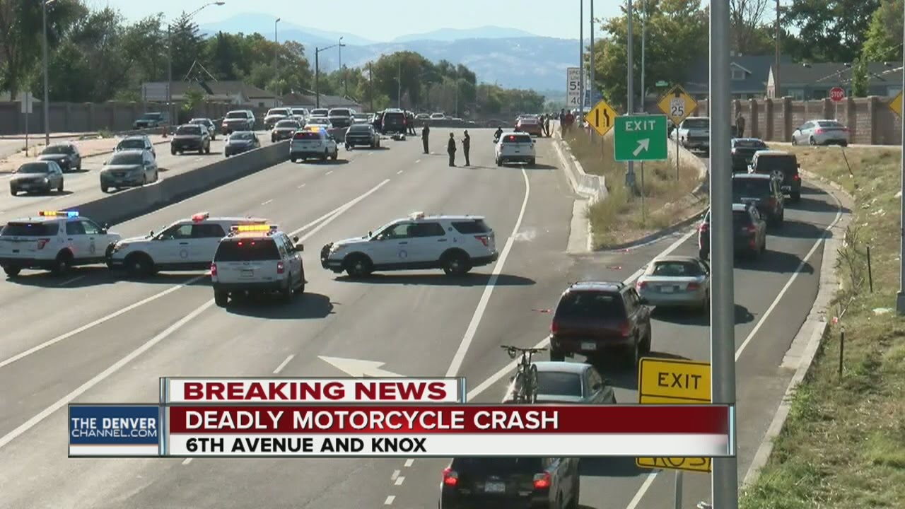 Deadly motorcycle crash at 6th Ave  and Knox Ct