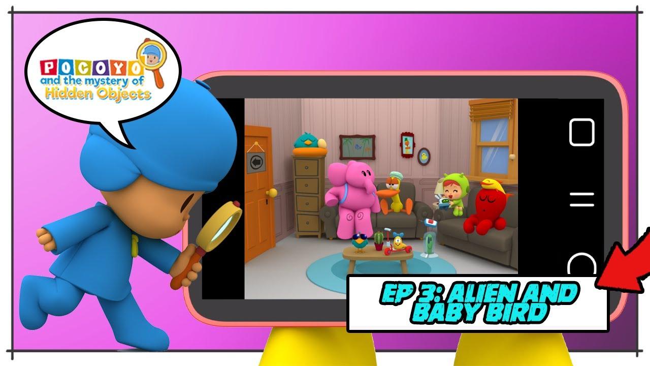 🎮 POCOYO GAMEPLAY - EP 3: DETECTIVE POCOYO (Alien and Baby Bird) [ Hidden Objects ] | Video games