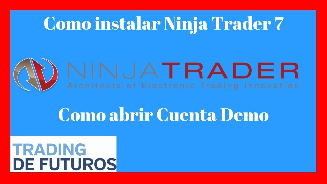Abrir cuenta demo ninjatrader