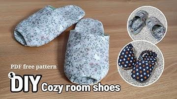 삼식이원단 룸 슈즈 만들기 /  홈패션 기초과정 / DIY cozy room shoes PDF free pattern / 싱거7640