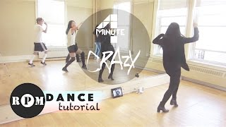 "4Minute ""Crazy"" Dance Tutorial (Chorus)"