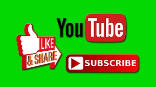 TOP 17 GREEN SCREEN ANIMATED SUBSCRIBE BUTTON | FREE DOWNLOAD