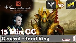 General - EPIC Sand King Gameplay   15 Min GG   Wings vs Navi Game 1   Group Stage TI6