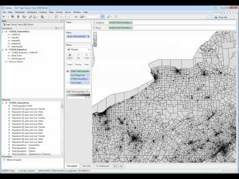 Using USGS Tiger Census Tract 2010 ESRI Shapefile in Tableau 64-bit beta